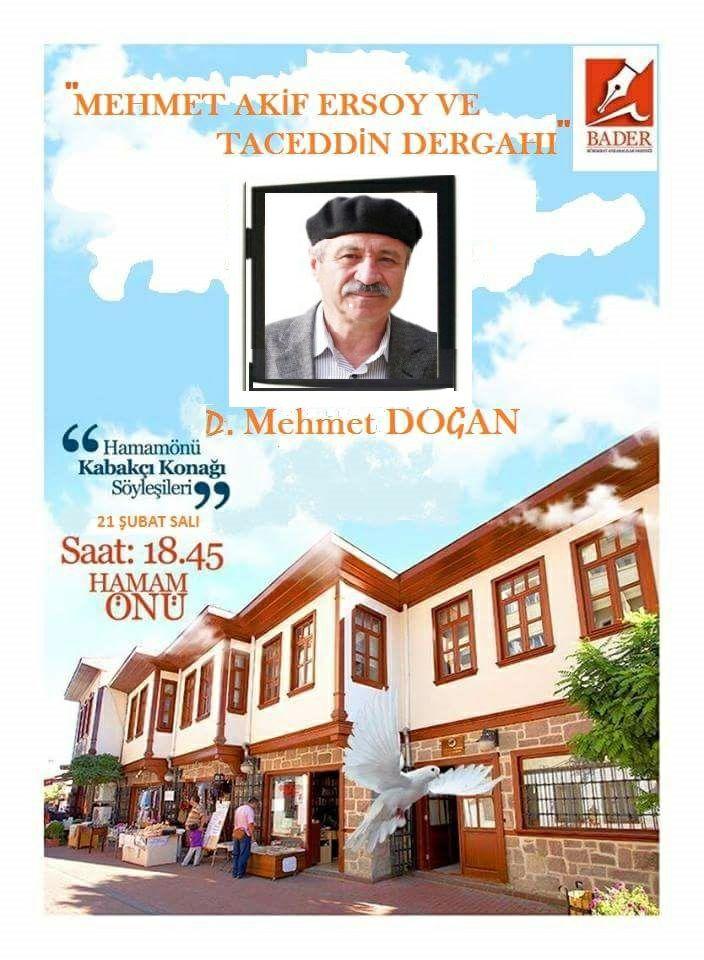 Şubat ayı Söyleşinin konuğu D. Mehmet DOĞAN