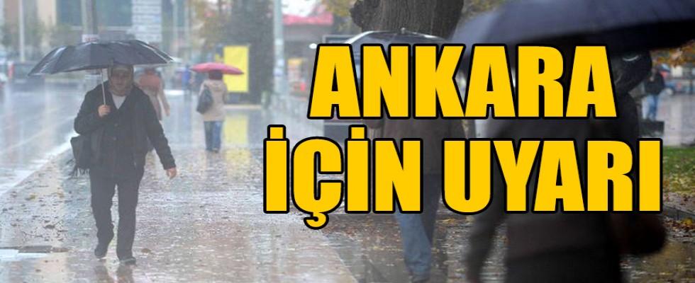 Ankara'ya  Sağanak Yağışlar Geliyor