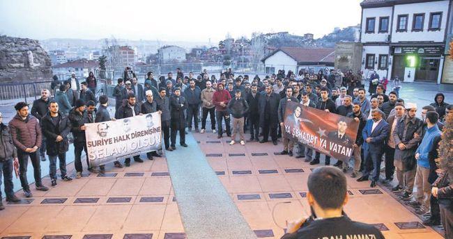 İsrail'in ezan yasağına Hacı Bayram'da protesto