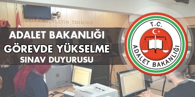 Adalet Bakanlığı görevde yükselme sınav duyurusu