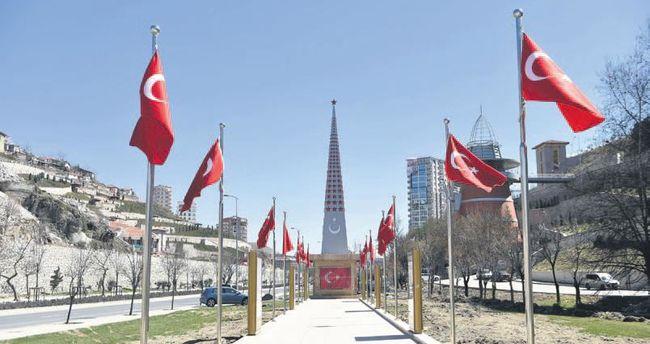 15 Temmuz anıtı tamamlanıyor