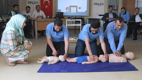EGO şoförlerine, ilk yardım eğitimi