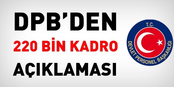 DPB'den, kayıp 220 bin kadro açıklaması
