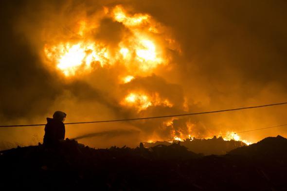 Ankara'da Hurdacılar Sitesi'nde yangın