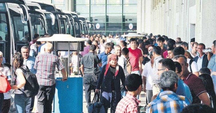 Tatil günü arttı biletler tükendi