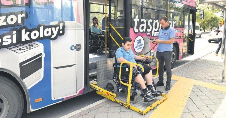 EGO otobüslerinin tamamı engelli erişimine uygun