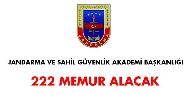 Jandarma ve Sahil Güvenlik Akademisi Başkanlığı 222 memur alacak