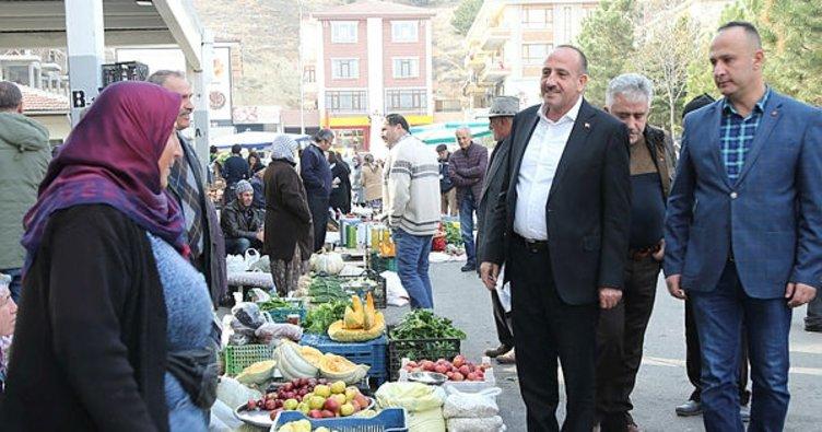 Başkan Duruay pazar esnafını ziyaret etti