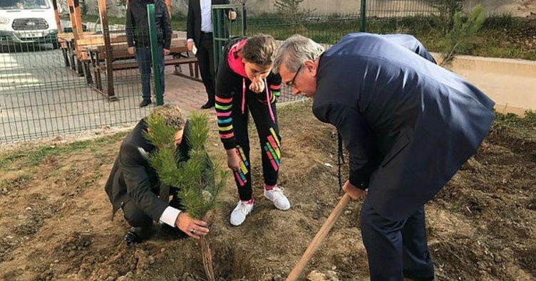 Başkan Çetin, Sirkeli'de ağaç dikti