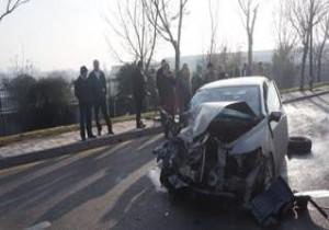Ankara'da trafik kazası, 2 yaralı!