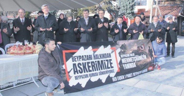 Mehmetçik'e Beypazarı kurusu kampanyası