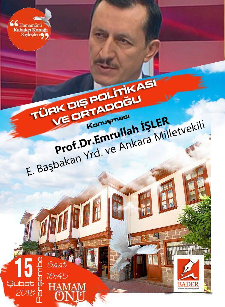 Prof. Dr. Emrullah İŞLER BADER'de