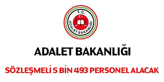 Adalet Bakanlığı 5 bin 493 sözleşmeli personel alacak