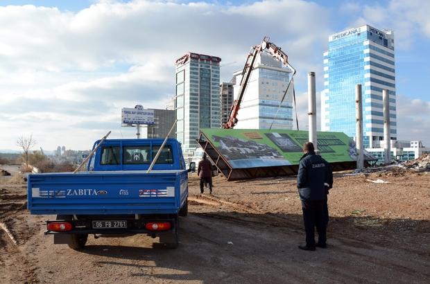 Ankara'da izinsiz reklamla mücadele