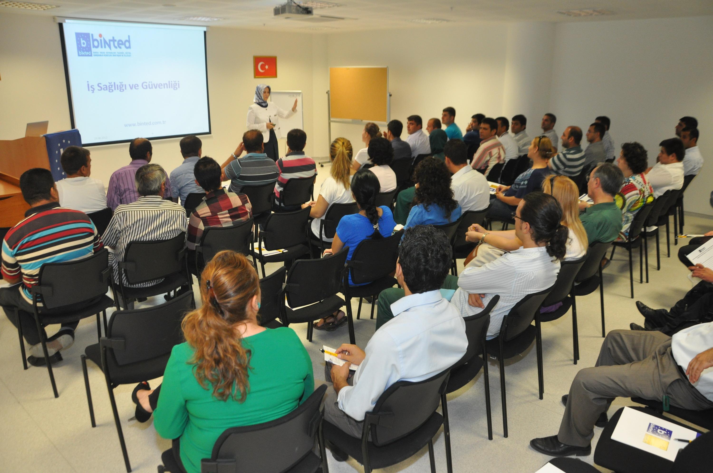 Çubuk'ta iş sağlığı ve güvenliği semineri