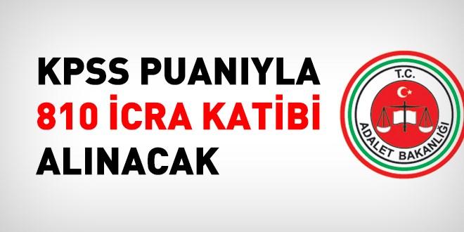 Adalet Bakanlığı İcra Katibi Alım İlanı